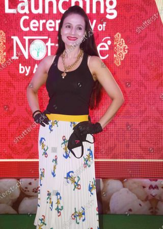 PATNA, INDIA - OCTOBER 11- Bollywood actress Amisha Patel during the launch of 'Notione Makhana' at Hotel Maurya, on October 11, 2020 in Patna, India.