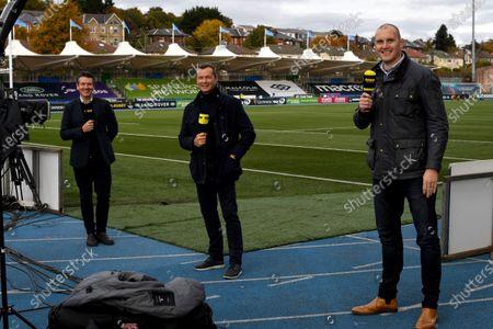 Glasgow Warriors vs Scarlets. Premier Sports' Pundits Dougie Vipond, Sean Holley and Alastair Kellock