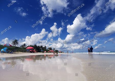 View of a beach in East Havana, in Havana Cuba, 11 October 2020. Close to reaching the 6000 cases of coronavirus, twelve provinces of the island are getting ready to re-open to tourism on 12 October, in a stage locally known as the 'new normality.'