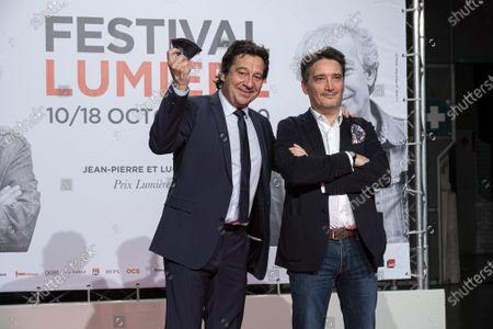 Laurent Gerra (L) and Stephane Audiard