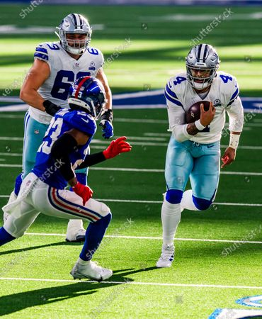 Editorial picture of Giants Cowboys Football, Arlington, United States - 11 Oct 2020