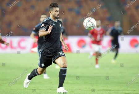 Pyramids player Abdallah El Said in action during the Egyptian Premier League soccer match between Al-Ahly and Pyramids in Cairo Egypt, 11 October 2020.