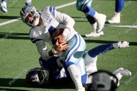 Editorial image of Giants Cowboys Football, Arlington, United States - 11 Oct 2020