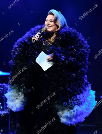 Stock Picture of Sarah Dawn Finer, Fredrik Robertsson's birthday is celebrated at Vasateatern with a charity dinner for the benefit of the Swedish Musicians' Association's crisis fund