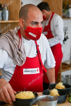 """Shooting of a special """"Top Chef"""" Red Cross - brought together by the humanitarian organization, two great starred chefs, David Martin (La Paix, 2 stars) and Alexandre Dionisio (Villa in the Sky, 2 stars), along with Mallory Gabsi, Belgian semi-finalist of the last """"Top Chef"""", and Leslie Winandy (""""Leslie in the kitchen"""") will be accompanied by Kid Noize and the host Silent Jill (Jill Vandermeulen) to concoct recipes with products from the social grocery stores of the Red Cross"""