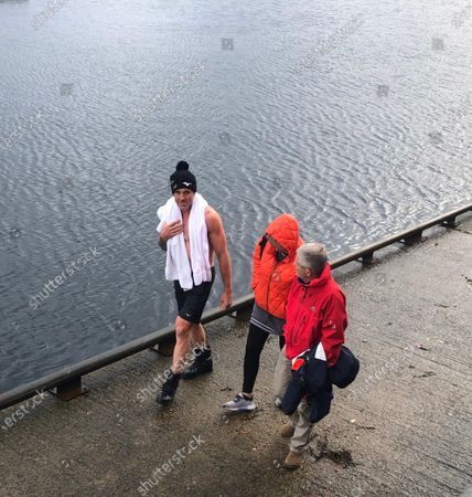 James Cracknell who had been swimming in Portree harbour, ahead of filming 'Celebrity SAS: Who Dares Wins' on the neighbouring island of Raasay