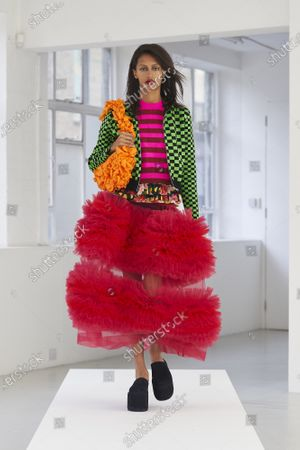 Editorial picture of Molly Goddard show, Runway, Spring Summer 2021, London Fashion Week, UK - 21 Sep 2020
