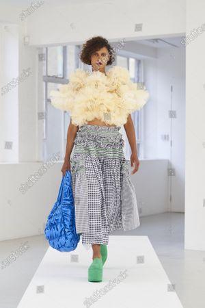 Editorial photo of Molly Goddard show, Runway, Spring Summer 2021, London Fashion Week, UK - 21 Sep 2020
