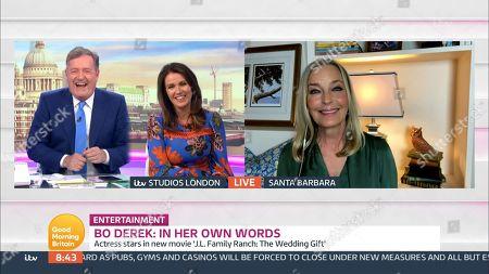 Stock Photo of Piers Morgan, Susanna Reid, Bo Derek