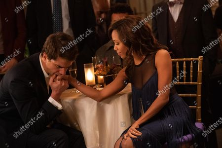 Stock Picture of Hamish Linklater as Dr. Joe Keller and Nicole Beharie as Annie