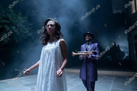 Stock Photo of Nicole Beharie as Annie and Anthony Hervey as Trumpeter