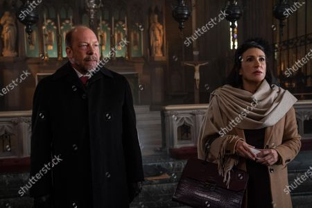 Stock Image of Bill Camp as Stan and Amy Lynn Stewart as Mrs. Harmon