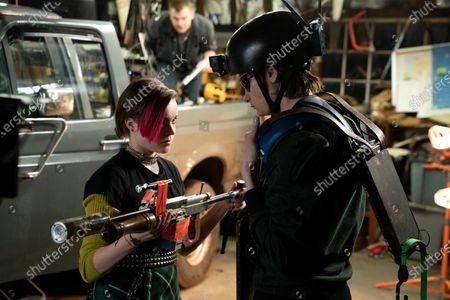 Stock Image of Nadia Alexander as FinalGirl and Charlie Tahan as Nick