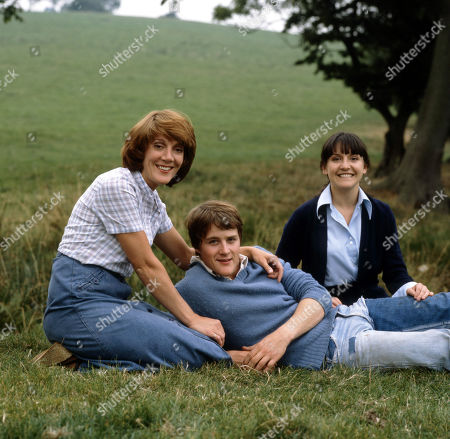 Emmerdale Farm - 1981 Patricia Merrick, as played by Helen Weir; Jackie Merrick, as played by Ian Sharrock ; and Sandie Merrick, as played by Jane Hutcheson