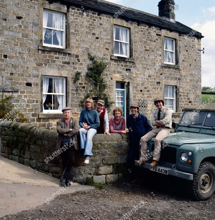 Emmerdale Farm - 1981 Sam Pearson, as played by Toke Townley ; Dolly Skilbeck, as played by Jean Rogers ; Matt Skilbeck, as played by Frederick Pyne ; Annie Sugden, as played by Sheila Mercier ; Jack Sugden, as played by Clive Hornby ; and Joe Sugden, as played by Frazer Hines.