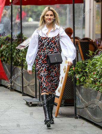 Ashley Roberts seen departing the Global Radio Studios.