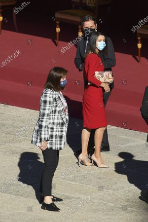 Stock Picture of Ines Arrimadas attends The National Day Military Parade at Royal Palace on October 12, 2020 in Madrid, Spain