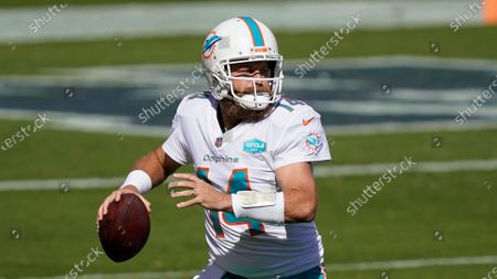 Miami Dolphins quarterback Ryan Fitzpatrick (14) against the San Francisco 49ers during an NFL football game in Santa Clara, Calif