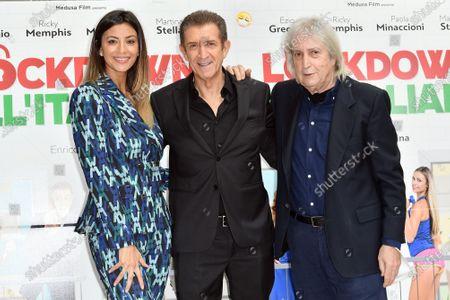Romina Pierdomenico, Ezio Greggio, director Enrico Vanzina