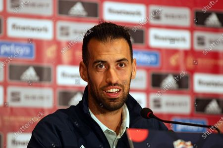 Editorial photo of Pre-match news conference of Sergio Busquets in Kyiv, Ukraine - 12 Oct 2020