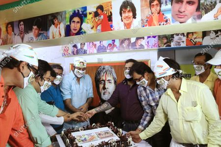 Editorial picture of Free food during Amitabh Bachchan birthday, kolkata, West Bengal, India - 11 Oct 2020