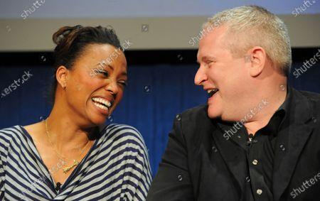 Stock Image of Aisha Tyler and H. Jon Benjamin