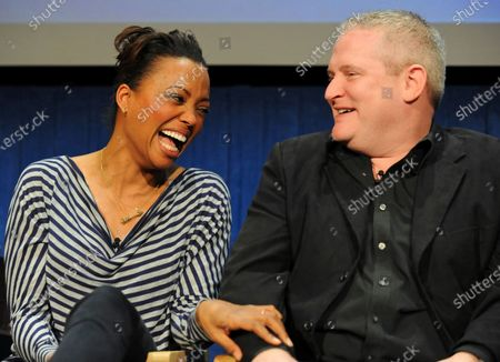 Stock Photo of Aisha Tyler and H. Jon Benjamin