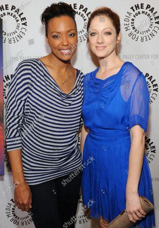 Stock Photo of Aisha Tyler and Judy Greer