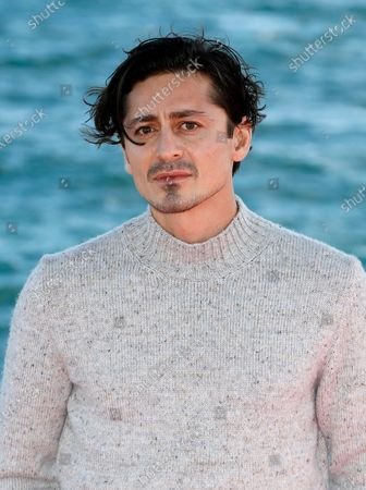 Alexej Manvelov poses during a photocall for the TV series 'Top Dog' at the Cannes Series Festival, in Cannes, France, 12 October 2020. The event runs from 09 to 14 October.