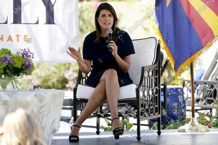 Stock Photo of Former U.N. Ambassador Nikki Haley campaigns for U.S Sen. Martha McSally, R-Ariz., in Scottsdale, Ariz