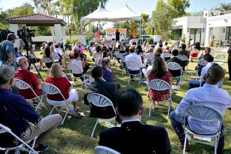 Former United Nations Ambassador Nikki Haley speaks as she campaigns for U.S. Sen. Martha McSally, R-Ariz., in Scottsdale, Ariz