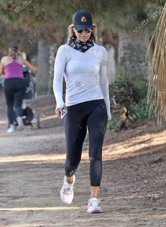 Ali Larter goes for a walk in Santa Monica