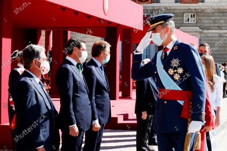 Editorial picture of Spanish National Day military parade at Royal Palace, Madrid, Spain - 12 Oct 2020