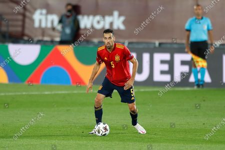 Sergio Busquets (ESP) - Football / Soccer : UEFA Nations League group stage for final tournament Group A4 Matchday 3 between Spain 1-0 Switzerland at the Estadio Alfredo Di Stefano in Madrid, Spain.