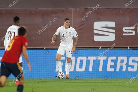 Steven Zuber (SUI) - Football / Soccer : UEFA Nations League group stage for final tournament Group A4 Matchday 3 between Spain 1-0 Switzerland at the Estadio Alfredo Di Stefano in Madrid, Spain.