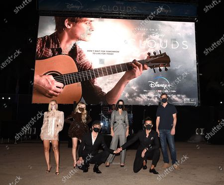 Editorial image of 'Clouds' film premiere, Disney Plus Drive-In Festival, Barker Hangar, Santa Monica, Los Angeles, California, USA - 12 Oct 2020