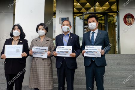 Editorial picture of Democratic Members to Deliver Letters to the German Embassy in Seoul, South Korea - 13 Oct 2020