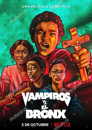 Vampires vs. the Bronx (2020) Poster Art. Coco Jones as Rita, Gerald Jones III as Bobby Carter, Jaden Michael as Miguel Martinez and Gregory Diaz IV as Luis Acosta