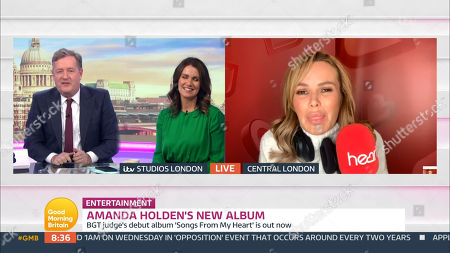 Stock Image of Piers Morgan, Susanna Reid, Amanda Holden