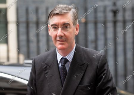 Jacob Rees-Mogg, Lord President of the Council, Leader of the House of Commons, arrives for the Cabinet meeting.