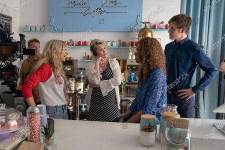 Carey Mulligan as Cassandra Thomas, Emerald Fennell Writer/Director, Laverne Cox as Gail and Bo Burnham as Ryan