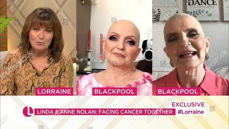 Stock Image of Lorraine Kelly, Linda Nolan, Anne Nolan