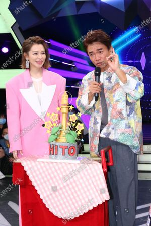 Stock Image of Vivian Hsu comes to Jacky Wu, Hank Chen and Lulu