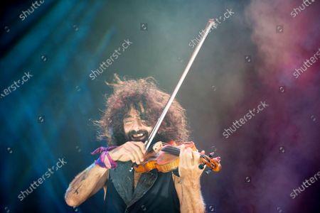 Ara Malikian, Lebanese violinist performs during the Nits al Carme concerts