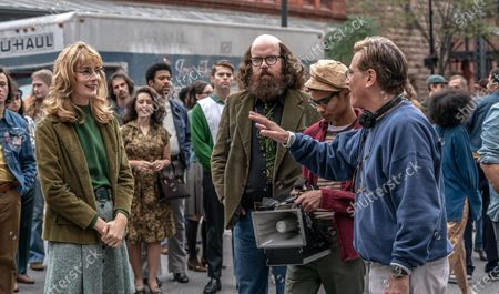 Caitlin Fitzgerald as Daphne O'Connor, Alan Metoskie as Allen Ginsburg and Aaron Sorkin Writer/Director
