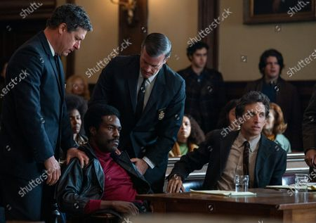 Yahya Abdul-Mateen II as Bobby Seale and Ben Shenkman as Leonard Weinglass