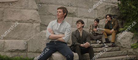 Stock Photo of Eddie Redmayne as Tom Hayden and Alex Sharp as Rennie Davis