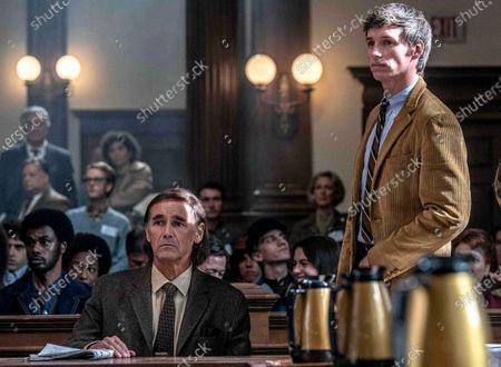 Mark Rylance as William Kunstler and Eddie Redmayne as Tom Hayden