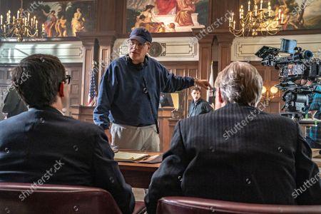 Joseph Gordon-Levitt as Richard Schultz, Aaron Sorkin Director/Writer and J.C. MacKenzie as Thomas Foran