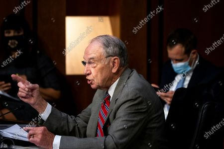Sen. Charles Grassley, R-Iowa, speaks during the confirmation hearing for Supreme Court nominee Amy Coney Barrett, before the Senate Judiciary Committee, on Capitol Hill in Washington